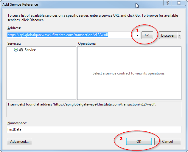 WCF: Add Service Reference Step 2